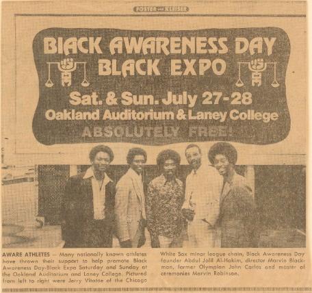 Black Expo, L-R: J. Vitatoe, Jalil, M. Blackmon, John Carlos, Marvin Robinson
